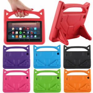 For Amazon Kindle Fire HD 8 10 7th 8th 9th Gen Kids EVA Handle Stand Case Cover