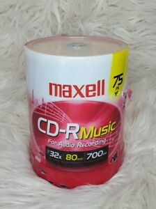 Maxell CD-R Music 700MB 80min (75-Pack) Professional Quality NEW Sealed CDR