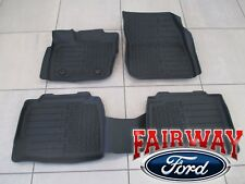 17 thru 18 Lincoln MKZ OEM Ford Tray Style Molded Black Floor Mat Set 4-pc