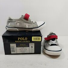 Polo Ralph Lauren Grey/Navy/Red/White Kody Sz 9