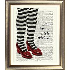 PRINT ON ORIGINAL ANTIQUE BOOK PAGE Wizard of Oz Dictionary Page Picture Print