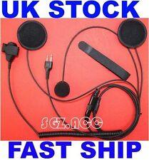 Cara Completa Casco Moto Headset/Auricular cerca micrófono IC-F4029SDR Radio Icom