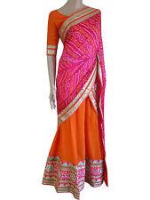 Traditiona Bandhani Indian Pakistani Bollywood Lehenga Choli Party Ethnic Suit