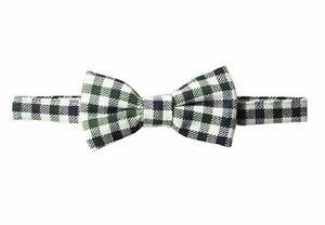 Mud Pie Baby Boys' Adjustable Bow Tie, black gingham, ONE SIZE