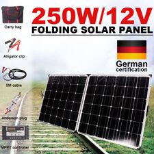 GISTA 250W 12V Folding Solar Panel Kit Caravan Camping Power USB Charging OZ