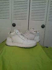 Men's casual white sneakers w/ zippered sides, worn once size 11
