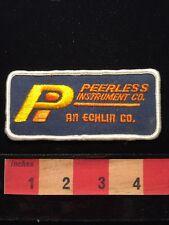 Vtg ELECTRONICS Patch PEERLESS INSTRUMENT COMPANY - ECHLIN CO. Farmington NY 646