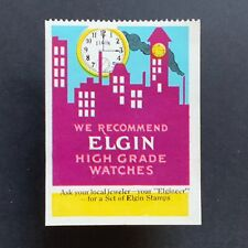 Poster Stamp * USA * 1915 Elgin Watches Illinois