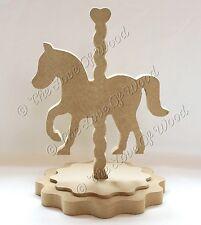 FREE STANDING CAROUSEL HORSE Craft Forma MDF 18 mm di spessore