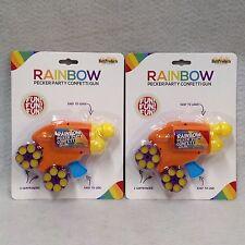 Set of 2 Rainbow Pecker Confetti Gun Pride Party Bar Gag Gift Prize Hot Sexy Fun