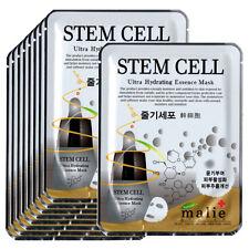 Stem cells Face Mask Pack Sheet Moisture Essence Facial Skin Care 9pcs Unisex