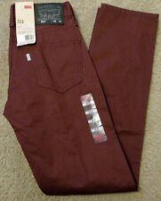 NWT Levi's Men's 28x32 511 Skinny Fit Twill Pants Andorra #0653 NEW RARE