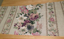 JC Penney Floral Valance Pink Purple Beige Dark Cream 3 Available