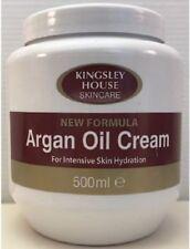 Kingsley House Soin de Peau Huile D'Argan Crème pour Intense Hydratation 500ml