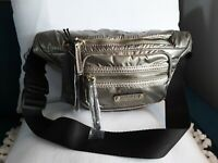Tutilo waist bag on pewter shiny color. New with tag