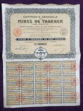 rare action au porteur de la mine d'or de Thakhek en Indochine 1928 - complète