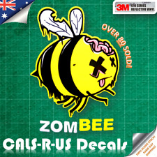 JDM Zombie ZOMBEE Walking Dead Undead Bee 3M REFLECTIVE Vinyl Decal Car Sticker