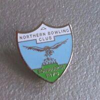 NORTHERN BOWLING CLUB PIN BADGE EDINBURGH 1879 VINTAGE RETRO SHIELD CREST