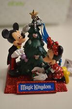 NEW Disney Parks MICKEY MINNIE Magic Kingdom Glitter Christmas Tree Ornament NWT