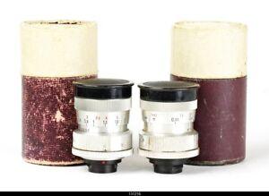 2x Lens Zeiss Biotar 2/25mm Zeiss Sonnar 2.8/40mm   Mint Box