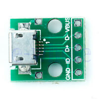MICRO USB to DIP Adapter 5pin female connector pcb converter TW