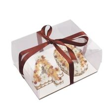 """6"""" Double number Clear  Cake boxes  and pie Bakery boxes ( pack of 2)"""