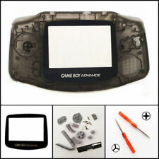 GBA Nintendo Game Boy Advance Replacement Housing Shell Lens Clear Black USA!