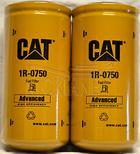 2 NEW CAT 1R-0750 FUEL FILTERS SEALED MADE IN USA CATERPILLAR 1R0750 OEM