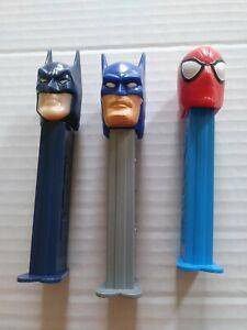 Batman and Spiderman Pez Dispensers