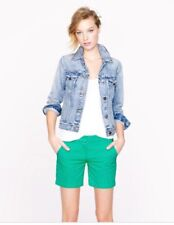 J Crew Green Blue Seersucker Shorts 10 NWT Striped $59