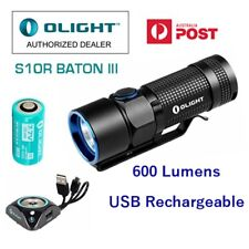 Olight S10R III 600 Lumen USB Rechargeable LED torch/light with 650mAh Battery