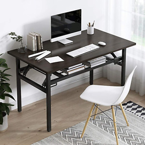 YJHome Folding Laptop Table, Student Desk 80 X 40 X 75cm No Assembly Required