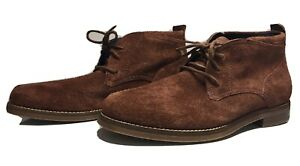 Cole Haan Fashion Boots Red Suede Chukka c10887 Size 8.5 Men Boots-NEW OPEN BOX