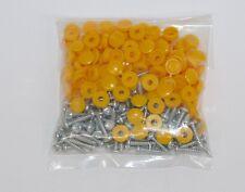 Number Plate Screws & Yellow Caps Pks X 100
