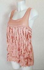 TOPSHOP pale pink tassel Satin chiffon sleeveless Square neck Cami blouse top 12