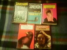 1952 & 1956 MAIGRET - SUSKIND ETC 5 BOOKS-FRENCH - £12.50. FREE UK POST - OFFERS