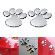 NEW 3D Car Silver Window Bumper Body Decal Sticker Bear Cat Dog Paw Foot Prints