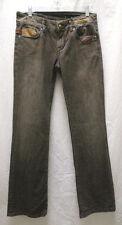Vigoss Studio Brown Stretch Jeans Low-Rise Flare Leg Size 29
