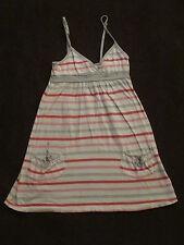 Girls Abercrombie Fitch Pink White Pink Stripel Sundress Cotton Dress sz M 8 10
