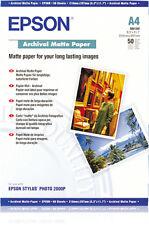 Epson A4 Archival Matte Paper PK 50 C13S041342