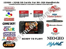 128 gb + 32 gb sd cards for RG-350 Handheld Loaded w/ Custom Firmware Installed