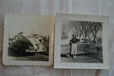 Vintage Car Photos Woman w/ 1946 1947 1948 Pontiac 851
