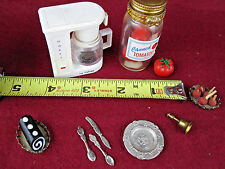 Fun LOT Dollhouse Miniature Food Kitchen accessories Tomato Coffee Cake Plate