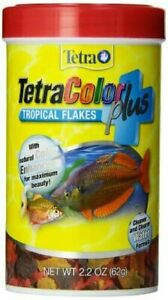 Tetra TetraColor PLUS Tropical Flakes with Color Enhancing, 2.2 Oz
