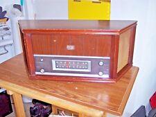 New listing Vintage Magnavox Crescendo Ofm 022 Tabletop Tube Fm Am Radio Working 1961 Walnut