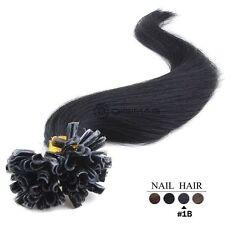 50,100,150,200 Extensions De Cheveux Pose A Chaud Naturels Remy 49-60CM 0,5G,1G