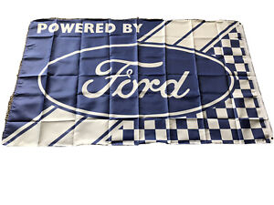 Ford Powered By Ford Flag Banner 3x5 Ft Flag Garage Car Show Wall Gift New!