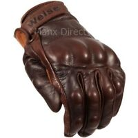 Weise Victory Classic Motorcycle Glove Retro Style Brown Armoured RRP £49.99