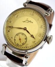 Junghans Kaliber 49/1 JUMBO ANTIKE Art Deco mariage ARMBANDUHR 1930 Wrist Watch