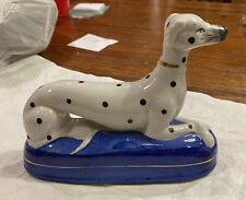 Dalmatian figurine On Blue porcelain Cushion